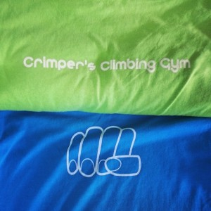Crimpers Climbing Gym – waterbased printing