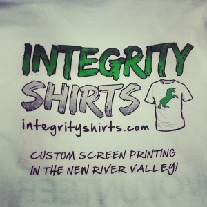 Integrity Shirts Sponsor Tshirts – waterbased screen printing