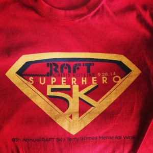 RAFT Crisis Hotline Superhero 5k