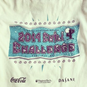 Virginia Tech Dining Services 2014 Chili Challenge shirts waterbased printing!