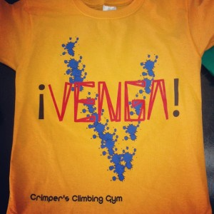 Crimper's Climbing Gym – competition tshirts
