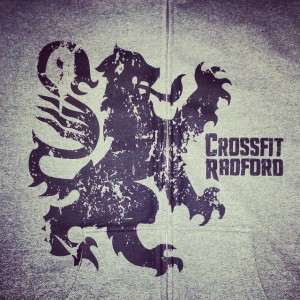 Crossfit Radford zip hoodies – waterbased over zipper print