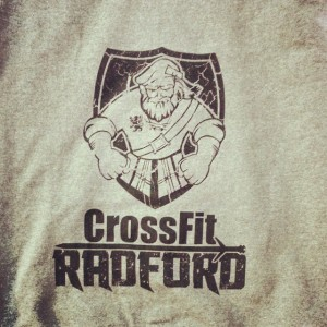 Crossfit Radford waterbased printing