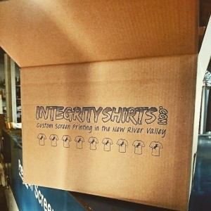 Order custom printed tshirts and you just might get a custom printed box too! – Integrity Shirts!
