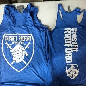 Crossfit Radford – Ladies racerback triblend tanks!