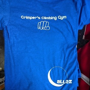 Crimper's Climbing Gym – hybrid waterbased printing on poly/cotton blends