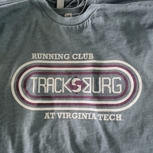 Running Club at Virginia Tech – waterbased printing on poly blends