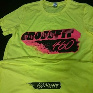 Crossfit 460 neon summer tee #neon #crossfit #screenprinting