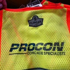 PROCON Concrete – screen printed safety vests