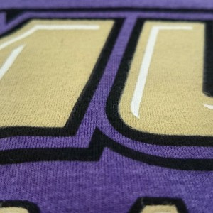 Soft waterbased screen printing for JMU Baseball #waterbased #screenprinting