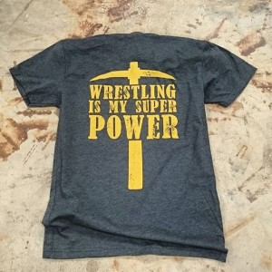 Midlothian Miners Wrestling – waterbased discharge screen printing #screenprinting #waterbased