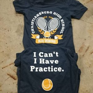 Christiansburg High School Ladies Tennis #screenprinting #tennis #christiansburgva