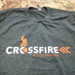 Crossfire Student Ministries – #screenprinting #waterbased #matsuicolor