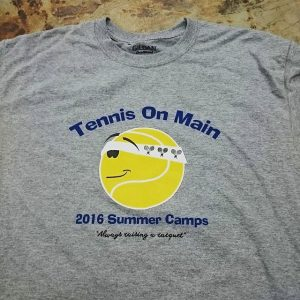 Tennis on Main 2016 Summer Camps #screenprinting #summercamp