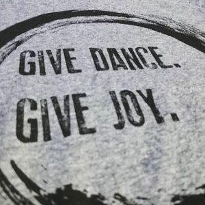 Give Dance. Give Joy. #screenprinting #waterbased #matsuicolor #triblends