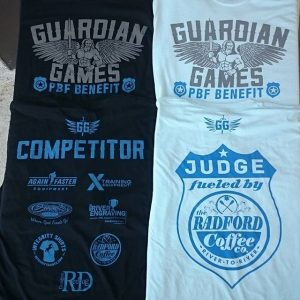 Guardian Games – Police Benevolent Foundation Crossfit Competition – waterbased discharge printing on poly cotton blends #screenprinting #waterbased #matsuicolor #crossfitradford #theguardiangames #crossfit
