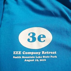 3e Consulting Inc Company Retreat #screenprinting