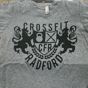 Crossfit Radford tri-blends #waterbased #screenprinting #matsuicolor