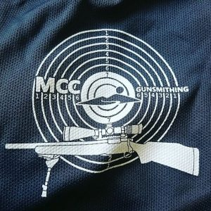 Montgomery Community College – Gunsmithing polos. Does your logo have too much detail for embroidery? We can print intricate detail with white ink on dark garments. Not all shops are the same! #screenprinting #gunsmith #gunsmithing