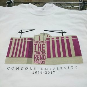 Concord University – 3 color waterbased printing #screenprinting #waterbased #matsuicolor
