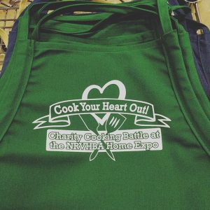 We print aprons too! NRVHBA Home Expo Charity Cooking Battle